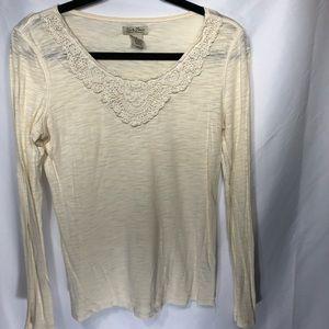 Women's Lucky Brand longsleeve shirt sz M